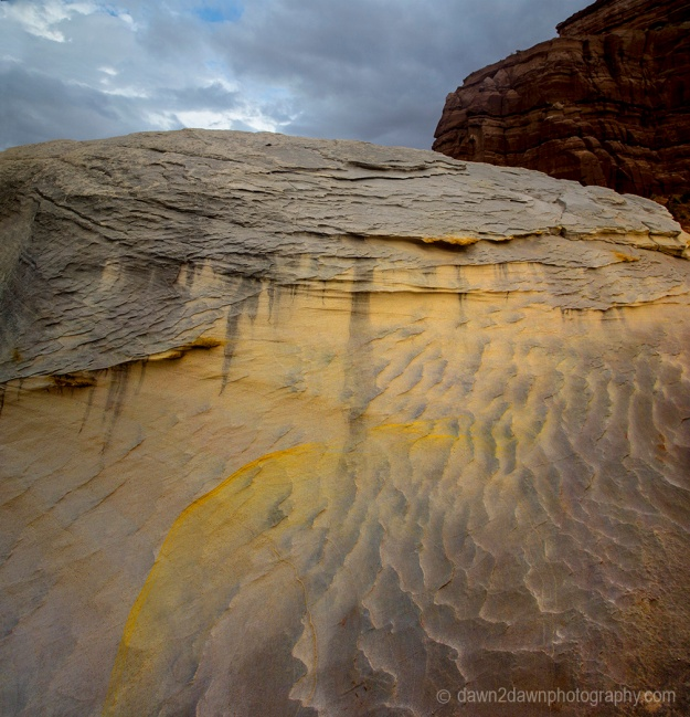 Unusually shaped and colored rock formation located in Southern Utah