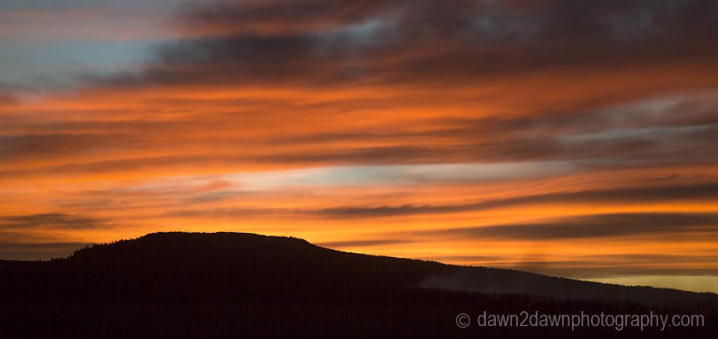 The sun sets at the Needles District at Canyonlands National Park, Utah