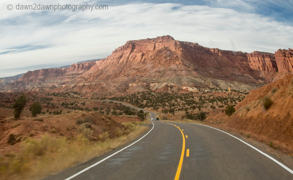 Highway 24 at Capitol Reef National Park.