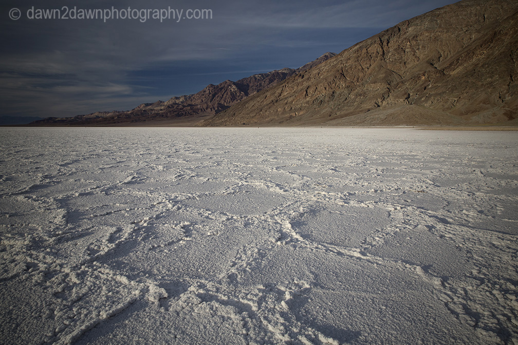 The salt flats of Badwater Basin at Death Valley National Park, California