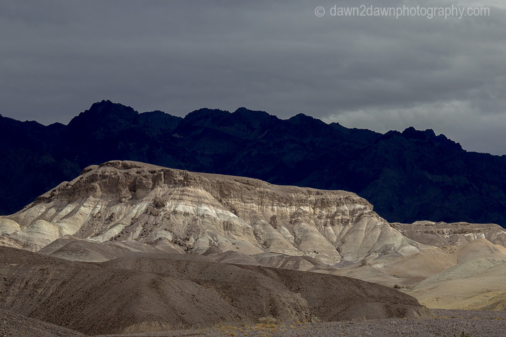 Brightly colored rock formations make up the landscape at Death Valley National Park, California
