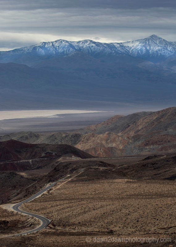 The wide expanse and elevation changes are the predominant features at Panamint Valley at Death Valley National Park, California