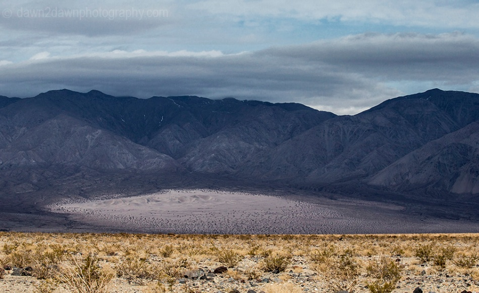 Panamint Dunes were formed when high winds forced sand into the north end of Panamint Valley at Death Valley National Park, California