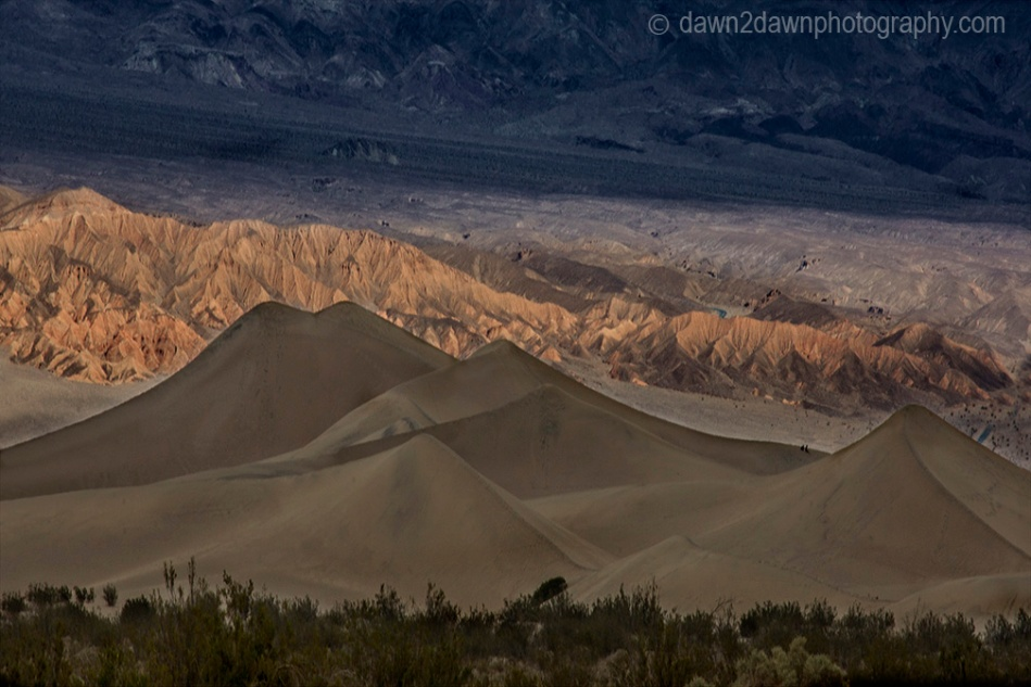 The Stovepipe Wells Sand Dunes at Death Valley National park, California