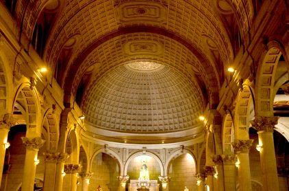 INSIDE UNKOWN CHURCH IN LIMA PERU