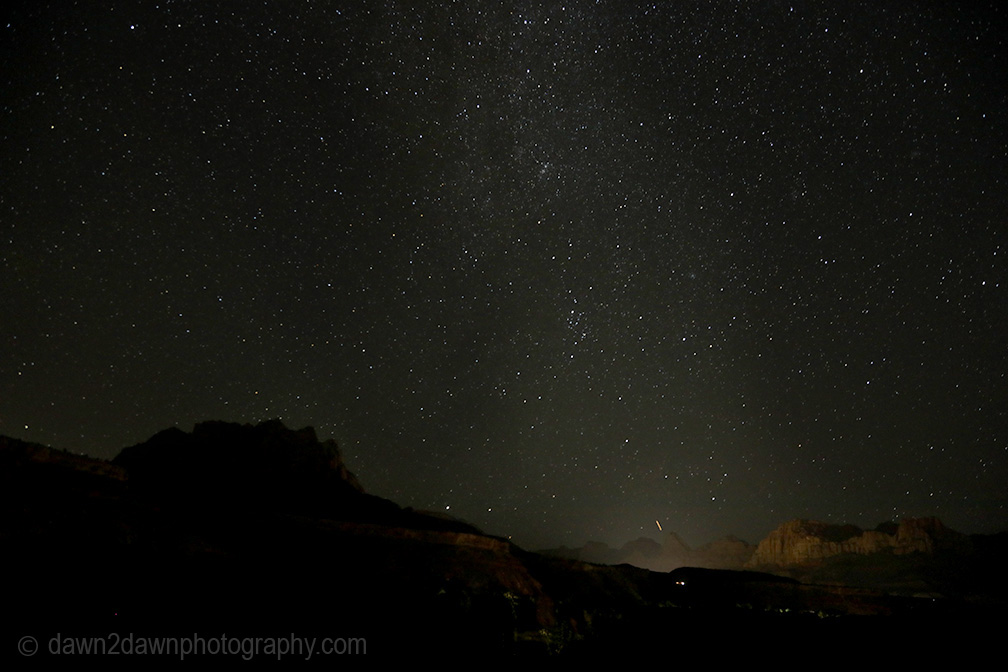 Zion Night Sky and Sunrise Time Lapse Video