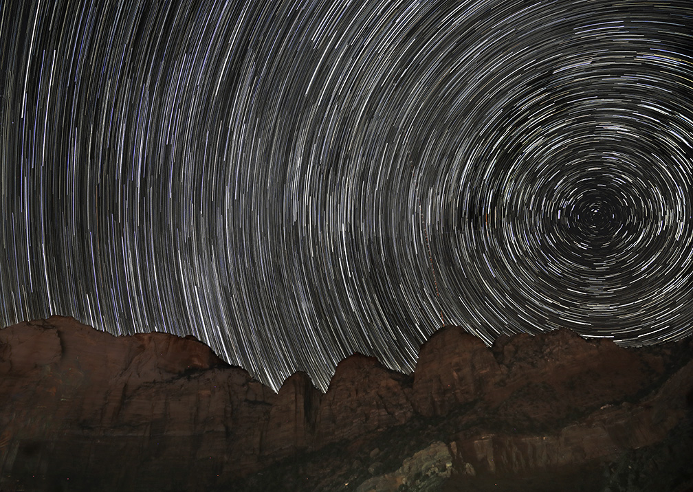 Zion Star Trails